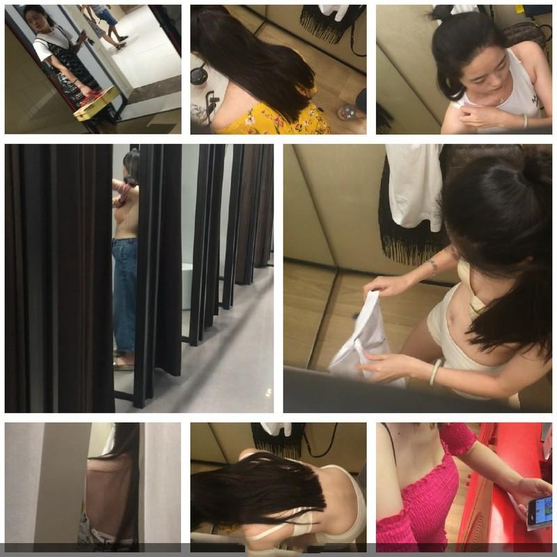 国内商场试衣间偷拍两性感美女闺蜜逛女装店,轮流试衣服